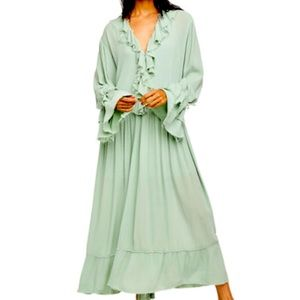 Free People Maxi Minted Jade Dress NWT